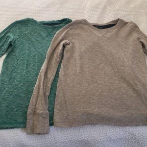 Boy's pair of Tucker+Tate jersey shirts; M (10-12)